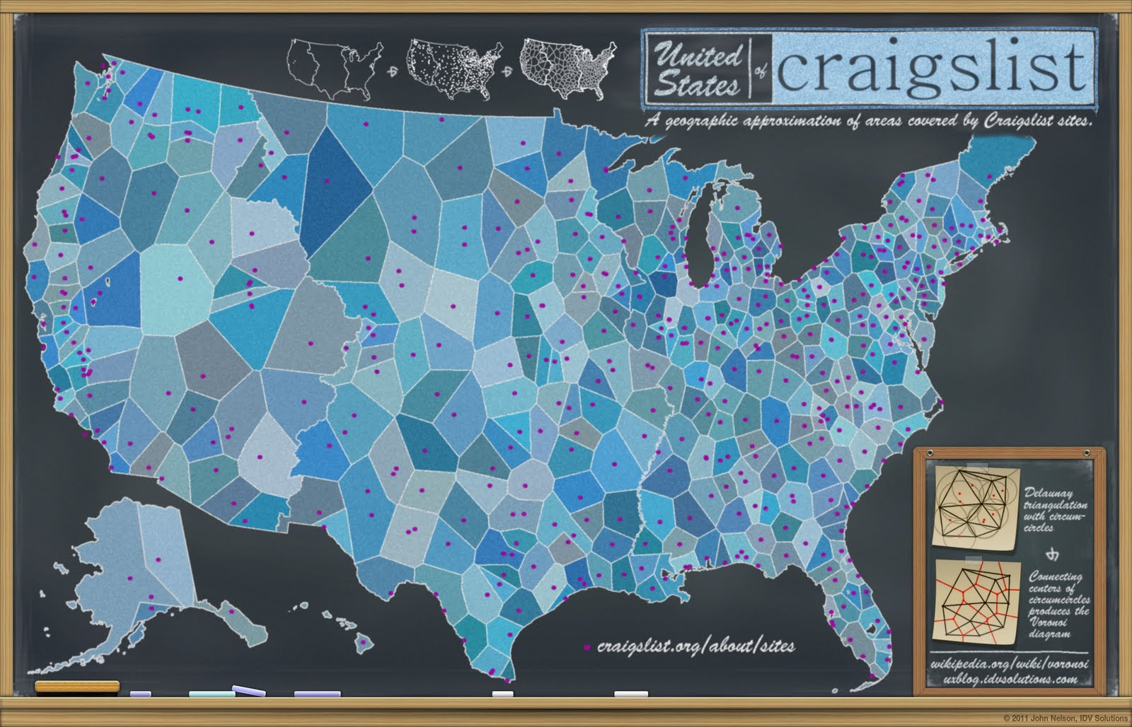 Craigslist map of US directories.